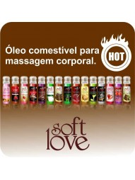 GEL COMESTIVEL SOFT LOVE HOT 15ML - SOFT LOVE